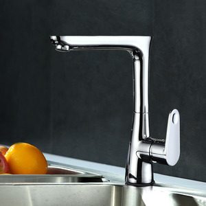 Rotatable One Hole Electroplated Bathroom Sinks Faucets