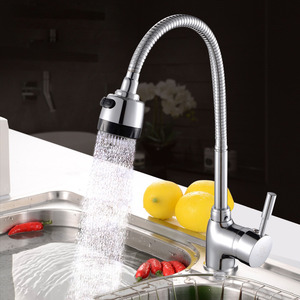 Rotatable Kitchen Single Hole Kitchen Faucet With Sprayer
