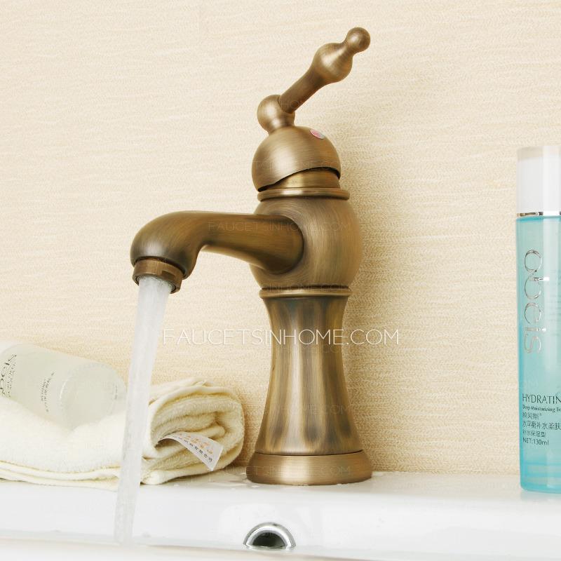 Bathroom Faucets Brass Finish antique brass finish bathroom faucets brushed