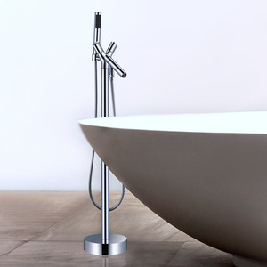 Creative Chrome Freestanding Faucet For Bathtub