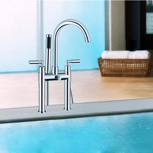 Modern Silver Stylish Bathroom Tub Faucets