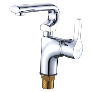 Brass Bath Faucets Silver Chrome Finish For Home