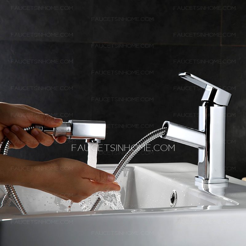 Amazing Square Shape Top Rated Pull Down Kitchen Faucets