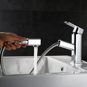 Square Shape Top Rated Pull Down Kitchen Faucets