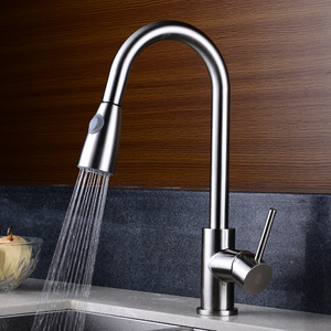 Copper Cold Hot Brushed Wholesale Kitchen Faucets