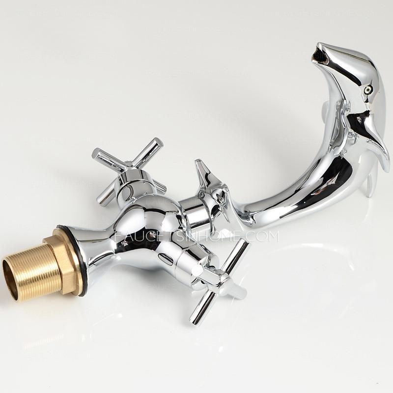 Designer Dolphin Bathroom Faucets Sale Chrome