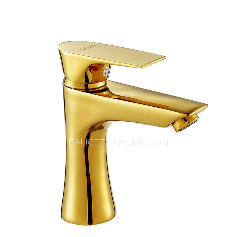 Antique gold faucets polished brass finish bathroom for Polished gold bathroom faucets