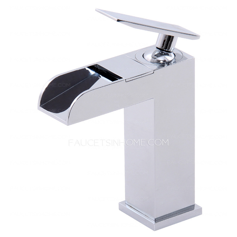 Designed Waterfall Faucets For Bathroom Sinks