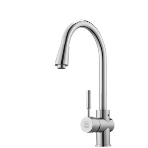 Single Faucet Kitchen Refined Brass Rotatable