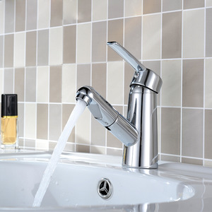 Pulldown Kitchen Faucet Hot Cold Rotatable