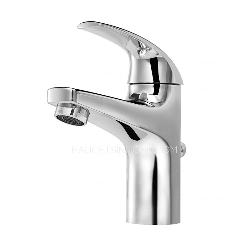simple designed types of bathroom sink faucets
