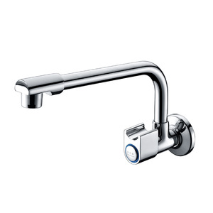 Rotatable Whole Copper Wall Kitchen Faucets Cold Water
