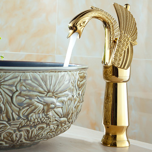 Vintage Swan Shape Retro Bathroom Faucets Height