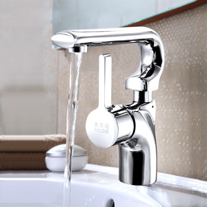 Silver Chrome Vessel Faucet One Hole Rotatable