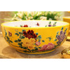 Porcelain Vessel Sink Chinese Style Yellow and White Round