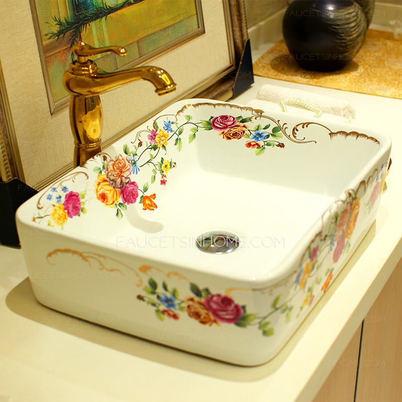 White Rectangular Vessel Sink Nameeks Ceramica White