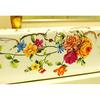 Rectangular Vessel Sinks Ceramic White Floral Painting