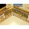 Bathroom Vessel Sink Rectangular Porcelain Gold Pattern