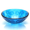 Blue Glass Vessel Sinks For Bathrooms Mediterranean Style