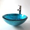 Cobalt Blue Vessel Sink Thicken Mediterranean Style