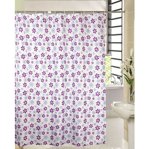 Japanese Purple Floral Unique Shower Curtain And Waterproof