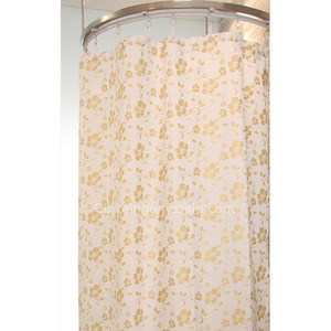 Luxury Floral Purple Color Cheap Shower Curtain And Toile