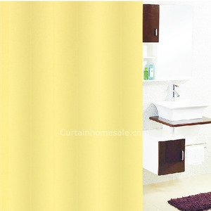 Clearance Yellow Color Print Designer Shower Curtain