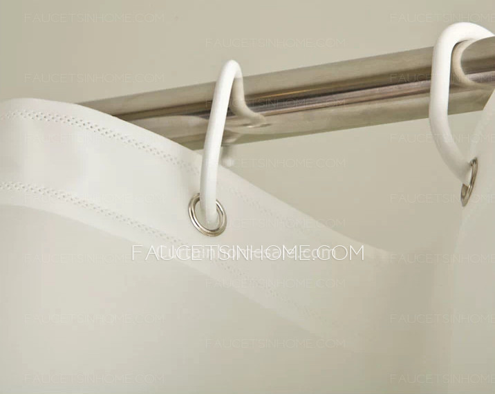 Overstock Bathroom Print White Discount Shower Curtain
