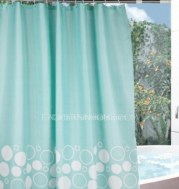 Curtain line And Toile Print Girls Shower Curtain