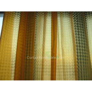 Masculine Shower Curtain Of Plaid Orange Color Waterproof