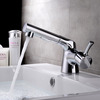 Chrome Finish Pull Out Spray Faucet For Bathroom