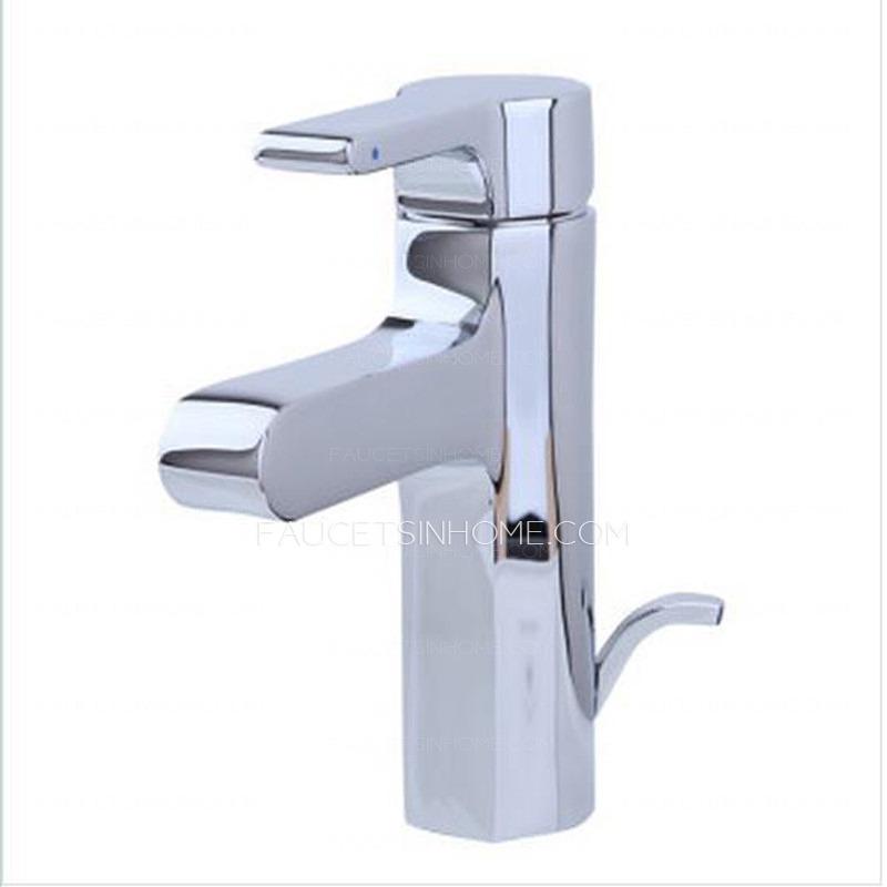 High end chrome single hole bathroom sink faucets for High end bathroom sink