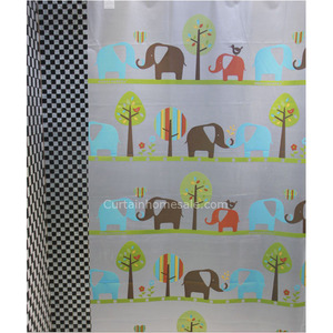 Decorative Outhouse Shower Curtain And White Color Animal