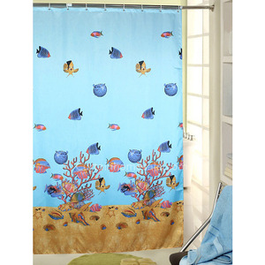 Pastoral Animal Baby Blue Print Awesome Shower Curtain