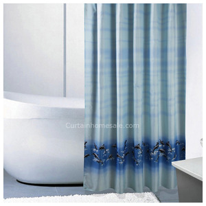Fancy Baby Blue Animal Bathroom Unique Shower Curtain