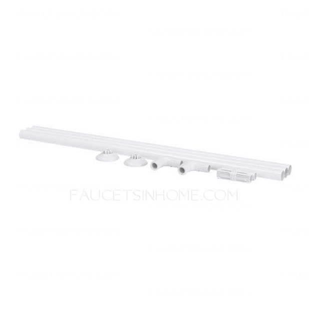 Simple White Painting Flexible 35 4 68 9 Inch Shower Curtain Rod