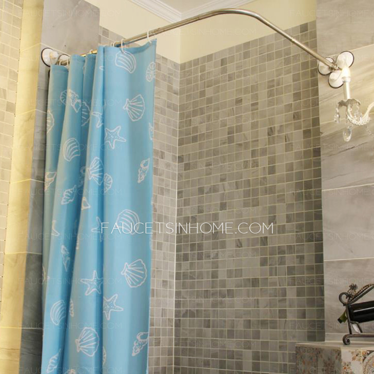 affordable l shaped white shower curtain rod no punch