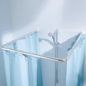 Best Flexible ABS Corner Alloy Shower Curtain Rod