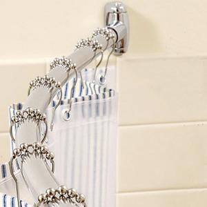 Thicken Stainless Steel 41-72.8 Inch Flexible Shower Curtain Rod