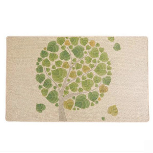 Rustic Tree Pattern 17.7*29.5 Inch Polyester Bath Mat