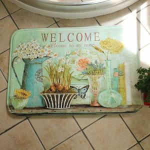 Beautiful Green Botanical Pattern 15.7*23.6 Inch Non Slip Bath Mat