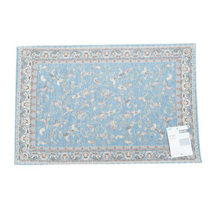 Modern Chenille Double Layer Blue 23.6*35 Inch Bathroom Rug