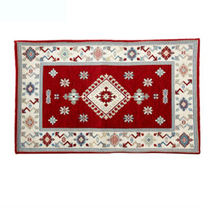 Vintage Double Layer Chenille Burgundy 20*31.5 Inch Bathroom Rug