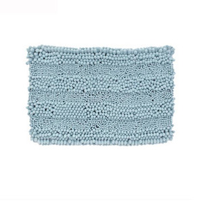 Fresh Chenille Mint Blue 31.5*20 Inch Bathroom Rug