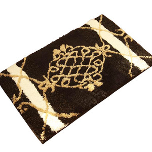 Smooth Black 23.6*35.4 Inch Antiskid Bathroom Rug