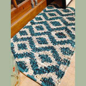 Vintage 20*31.5 Inch Turquoise Antiskid Bathroom Rug