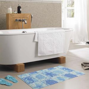 Fresh Blue Antiskid 27.6*13.8 Inch Starfish Bath Mat