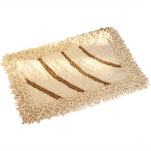 Modern Beige 23.6*15.7 Inch Cotton Bathroom Rug