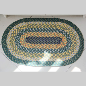 Rustic Oval Shaped Multi-Color 20*30 Inch Bath Mat