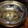 Silver Round Porcelain Vessel Sinks Pattern Single Bowl